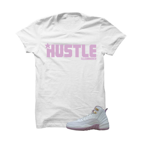 Jordan 12 Gs Heiress Plum Fog White T Shirt (Stop The Violence)