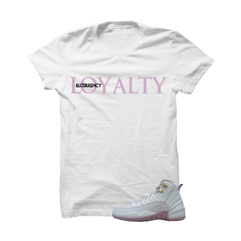 Jordan 12 Gs Heiress Plum Fog White T Shirt (Mickey Assassin)