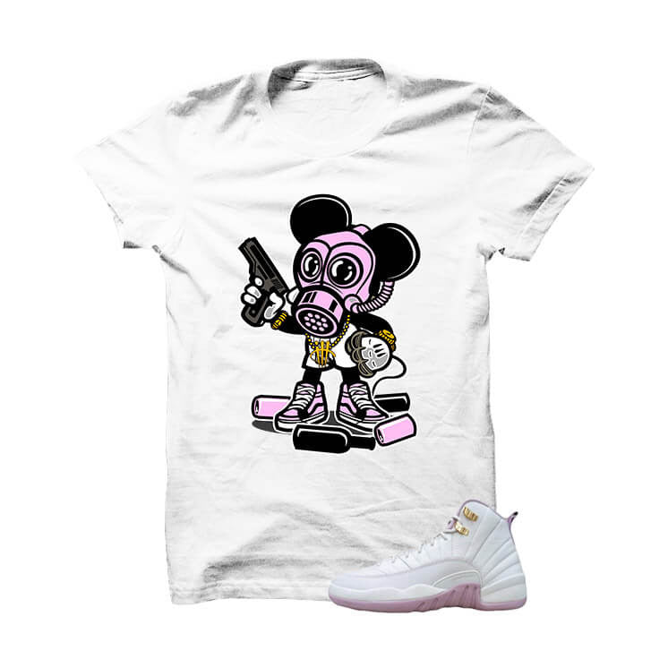 Jordan 12 Gs Heiress Plum Fog White T Shirt (Mickey Assassin) - illCurrency Matching T-shirts For Sneakers and Sneaker Release Date News