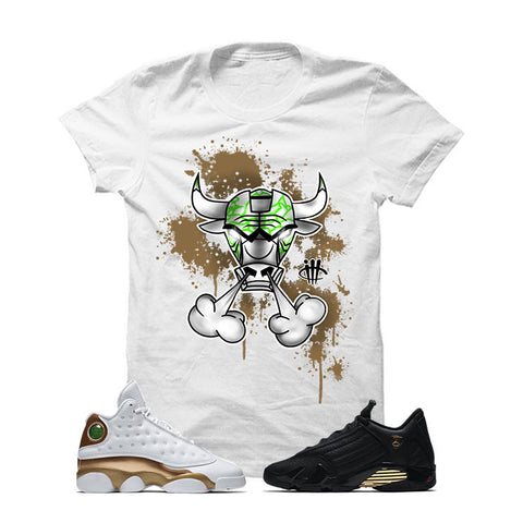 Jordan 13/14 Defining Moments Pack White T Shirt (IRON BULL)