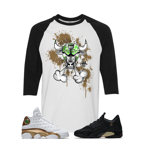 Jordan 13/14 Defining moments pack White And Black Baseball T's (IRON BULL)