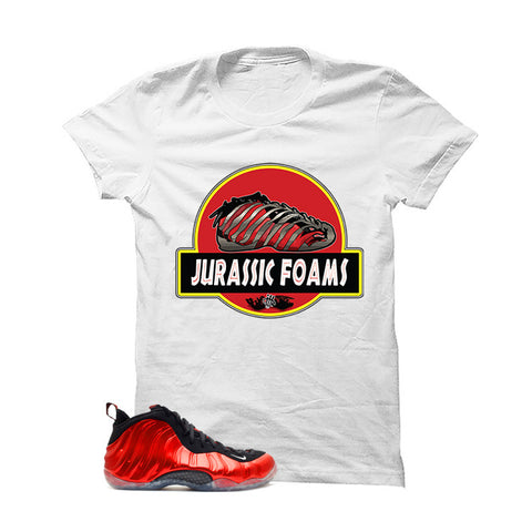 Nike Air Foamposite One Metallic Red White T (Jurassic Foam)