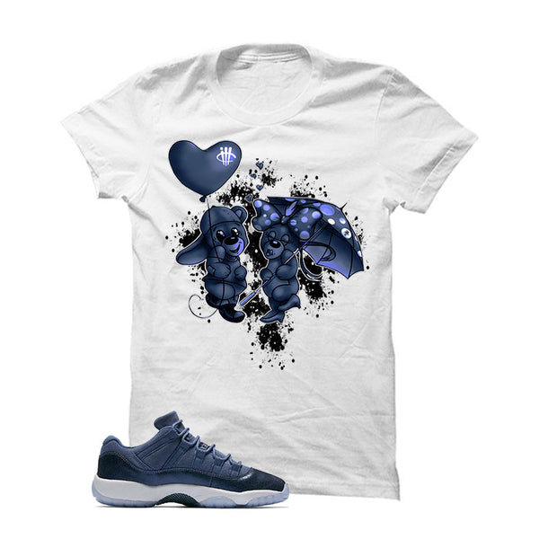 Air Jordan 11 Low GS Blue Moon Official Matching Shirts