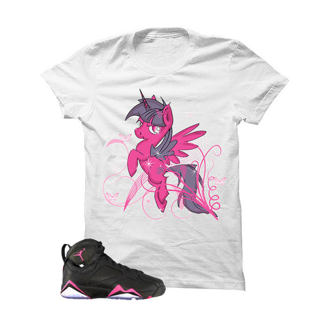 Jordan 7 Gs Hyper Pink White T Shirt (MAGICAL PONY)
