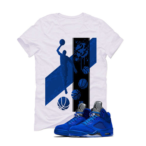 Air Jordan 5 Blue Suede White T (MJ)