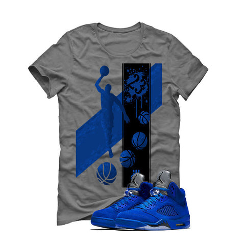 Air Jordan 5 Blue Suede Grey T (MJ)