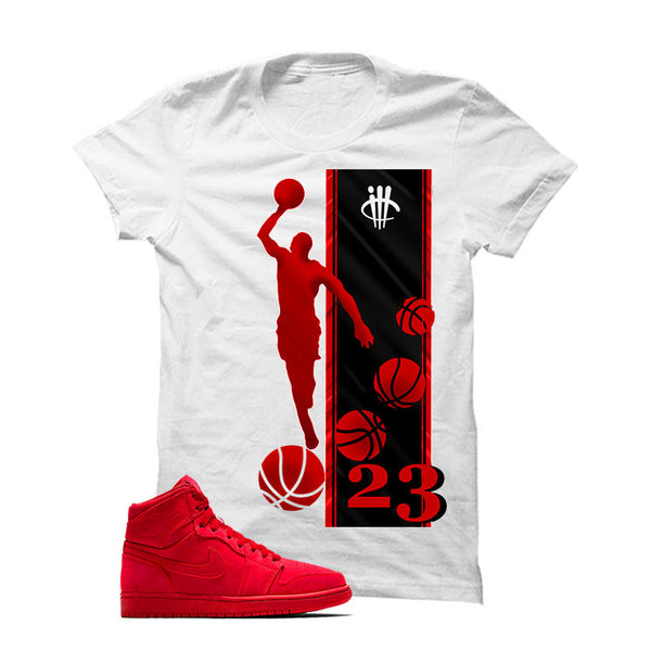 Jordan 1 Retro High Red Suede - Offcial Matching Shirts