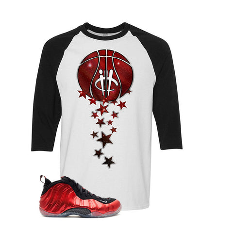 Nike Air Foamposite One Metallic Red White And Black Baseball T's (Magic Ball)