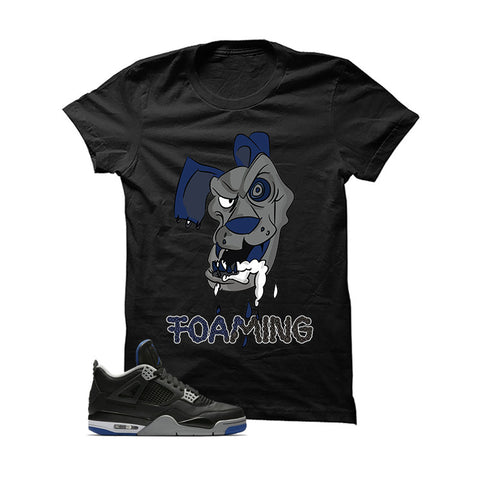 Jordan 4 Game Royal Black T Shirt (Foaming)