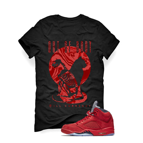 Air Jordan 5 University Red Black T (Out Of Body)