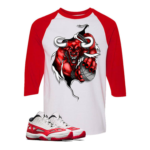 Air Jordan 11 Low IE White And Red Baseball T (RIP THREW)