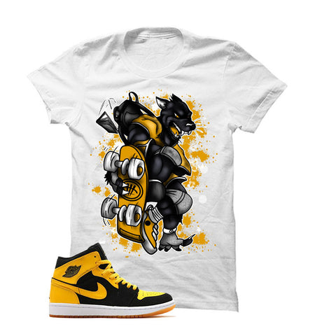 Jordan 1 Mid New Love White T Shirt (War With Myself)