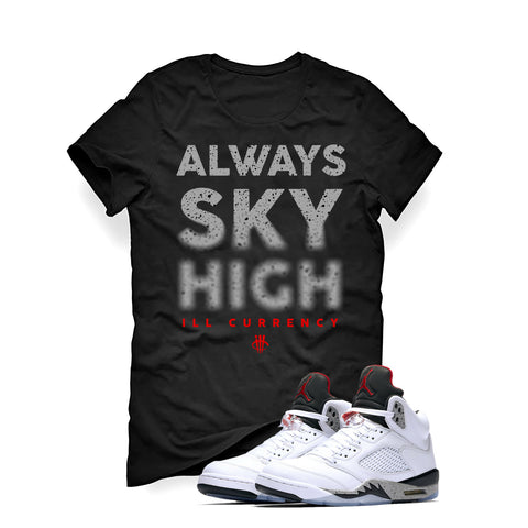 Air Jordan 5 White Cement Black T (Sky High)