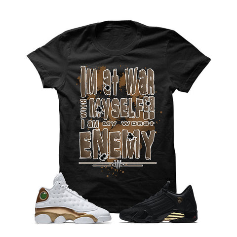 Jordan 13/14 Defining Moments Pack Black T Shirt (WAR WITH MYSELF)