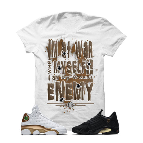 Jordan 13/14 Defining Moments Pack White T Shirt (WAR WITH MYSELF)