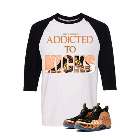 Foamposite One Copper White And Black Baseball T's (addicted to kicks)