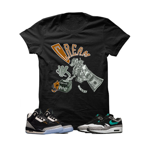 Atmos X Nike/Jordan Pack Black T Shirt (Cream)