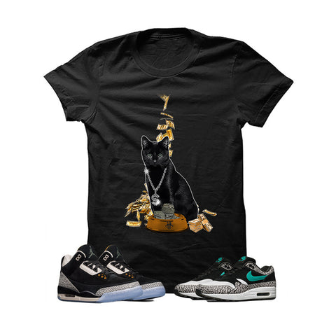 Atmos X Nike/Jordan Pack Black T Shirt (Money Cat)