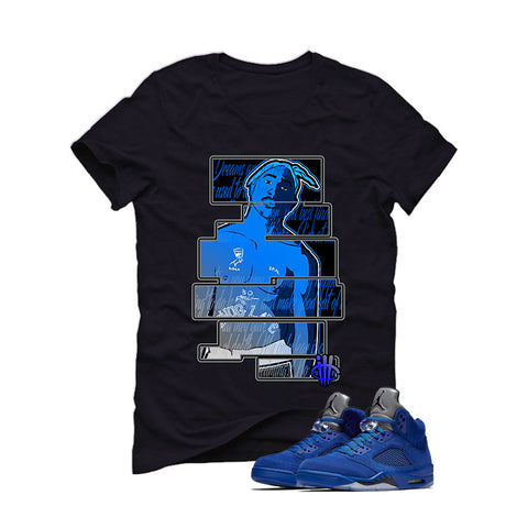 Air Jordan 5 Blue Suede black T (Dream)