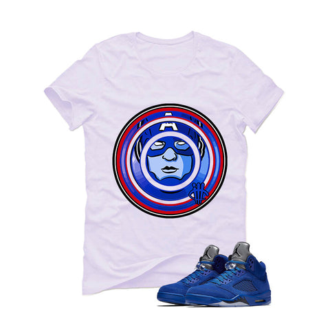 Air Jordan 5 Blue Suede White T (Capt)