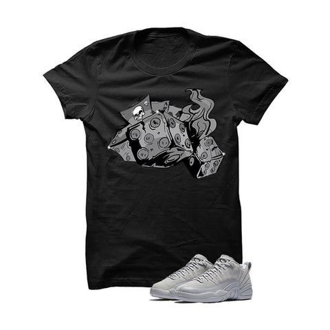 Jordan 12 Low Wolf Grey Black T Shirt (Follow My Lead)
