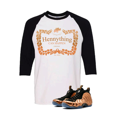Foamposite One Copper White And Black Baseball T's (Henny)