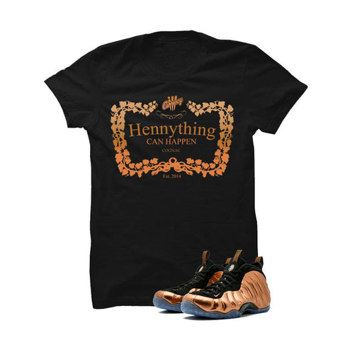 Foamposite One Copper Black T Shirt (henny)