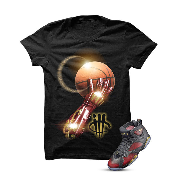 Jordan 7 Doernbecher Black T Shirt (Iron Arm) - illCurrency Matching T-shirts For Sneakers and Sneaker Release Date News