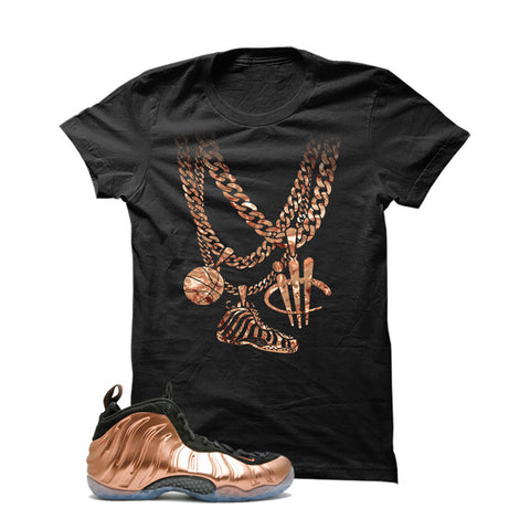 Foamposite One Copper Black T Shirt (Chain)