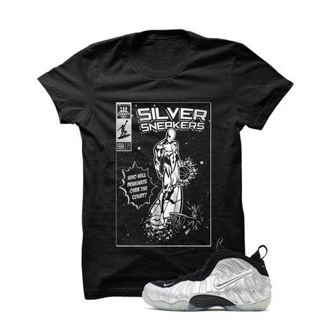 Foamposite Pro Silver Surfer Black T Shirt (Silver Surfer)