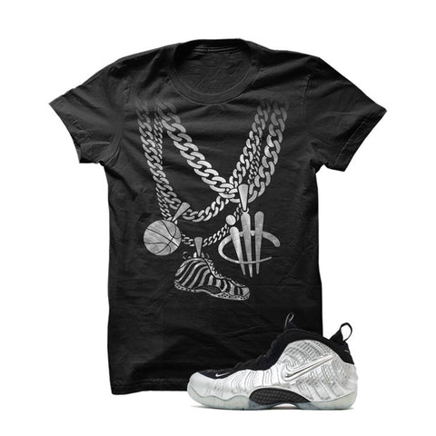 Foamposite Pro Silver Surfer Black T Shirt (Chains)