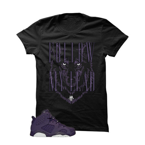 Jordan 6 Gs Dark Purple Black T Shirt (Dragon)