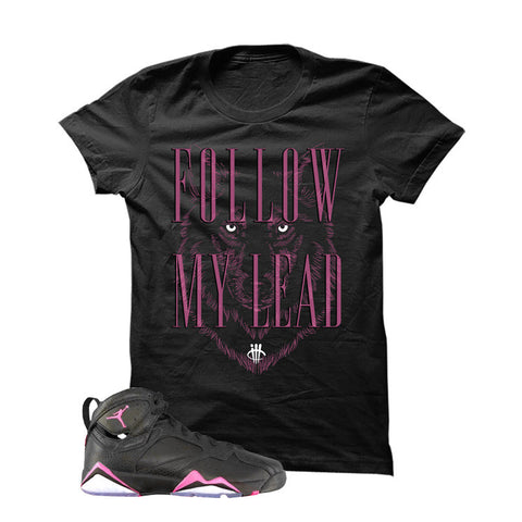 Jordan 7 Gs Hyper Pink Black T Shirt (Follow)