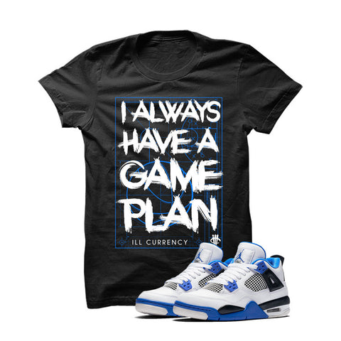 Jordan 4 Motorsports Black T Shirt (Game Plan)