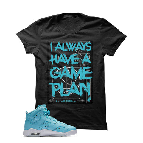 Jordan 6 Gs Still Blue Black T Shirt (Game Plan)