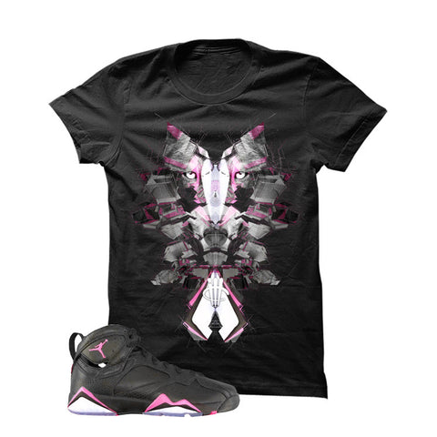 Jordan 7 Gs Hyper Pink Black T Shirt (GlitchWolf)
