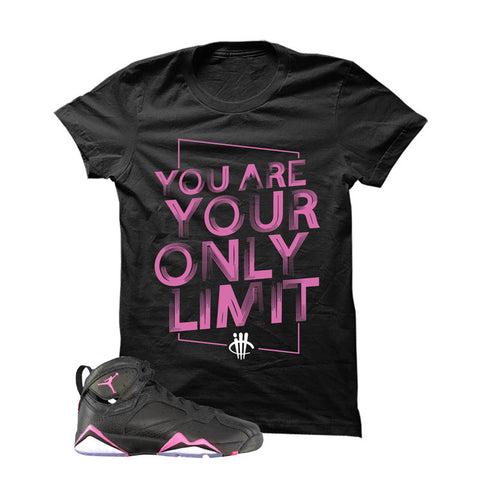 Jordan 7 Gs Hyper Pink Black T Shirt (Limit)