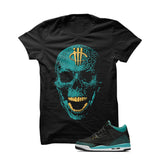 Jordan 3 Gs Black Teal Gold Black T Shirt (Skull Head) - illCurrency Matching T-shirts For Sneakers and Sneaker Release Date News