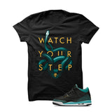 Jordan 3 Gs Black Teal Gold Black T Shirt (Snakes) - illCurrency Matching T-shirts For Sneakers and Sneaker Release Date News