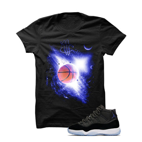 Jordan 11 Space Jam Black T Shirt (Space Ball)