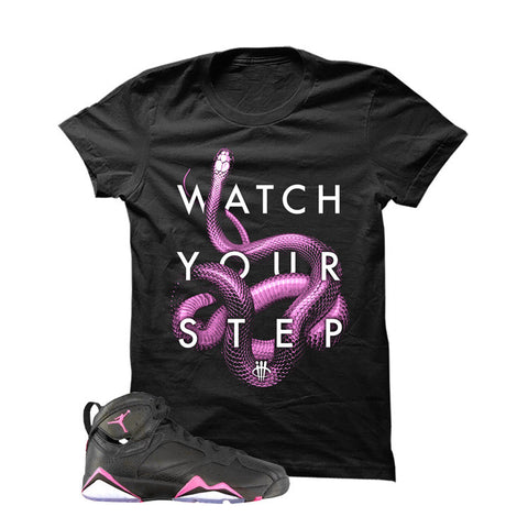 Jordan 7 Gs Hyper Pink Black T Shirt (Watch)