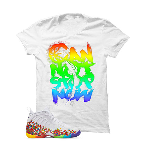 Nike Little Posite Pro Fruity Pebbles White T Shirt (Can Not Stop)