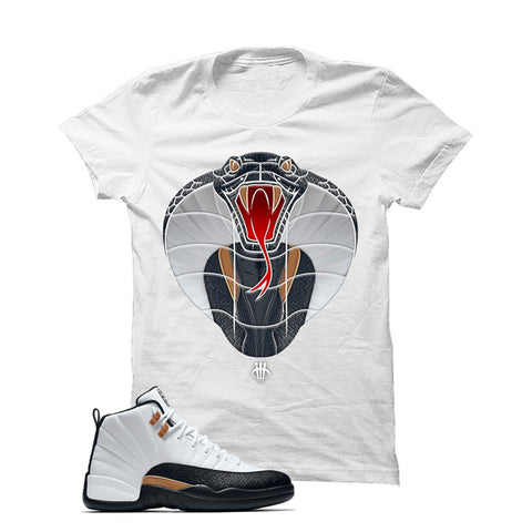Jordan 12 Chinese New Year White T Shirt (Cobra)