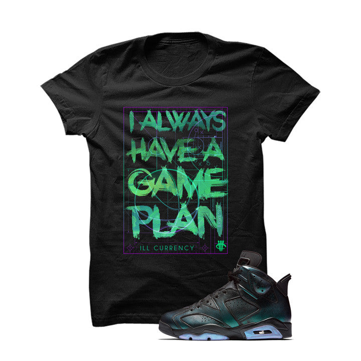 Jordan 6 All-Star Black T Shirt (Game Plan) - illCurrency Matching T-shirts For Sneakers and Sneaker Release Date News