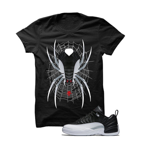 Jordan 12 Low Playoff Black T Shirt (Spider)