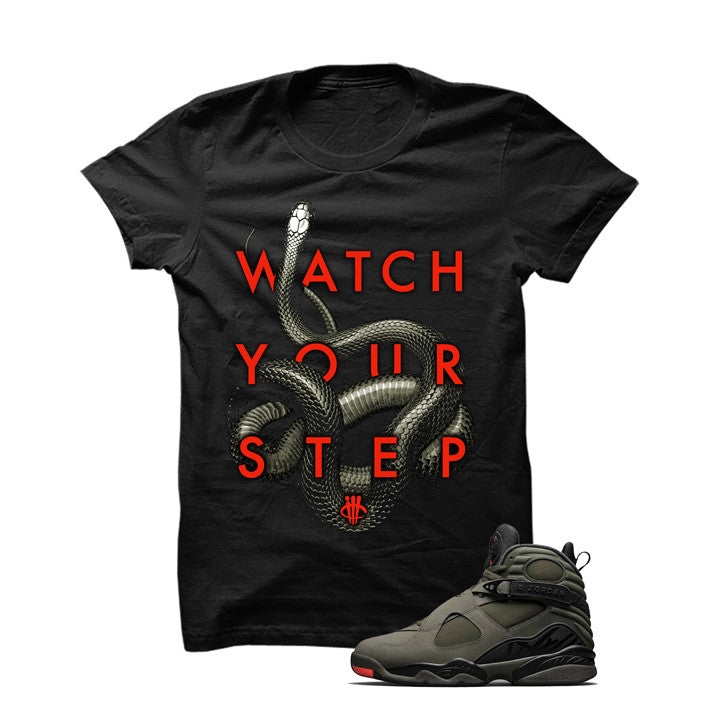 Jordan 8 Undefeated Black T Shirt (Snakes) - illCurrency Matching T-shirts For Sneakers and Sneaker Release Date News