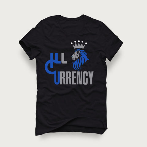 Jordan 4 Game Royal Black T Shirt (Illcurrency Lion)