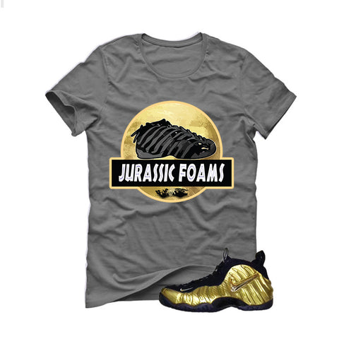 Nike Air Foamposite Pro Metallic Gold Grey T (Jurassic)