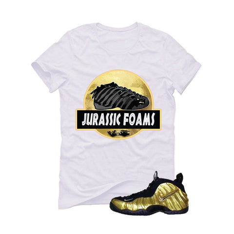 Nike Air Foamposite Pro Metallic Gold White T (Jurassic)