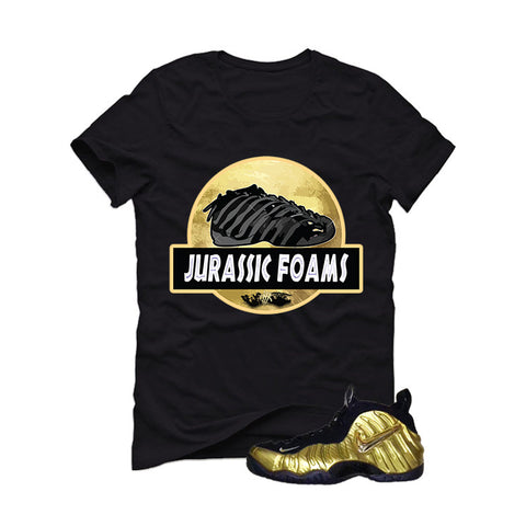 Nike Air Foamposite Pro Metallic Gold Black T (Jurassic)